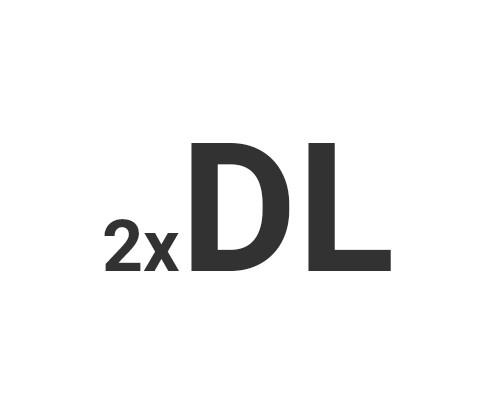 Ulotki łamane 2xDL