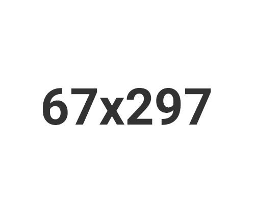 Zawieszki 67x297mm